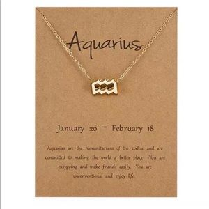 Aquarius ♒️ Zodiac Necklace